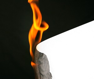 fire and paper
